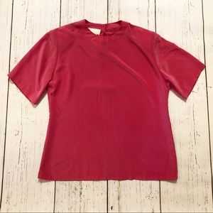 🏷Sophisticated by Pendleton pink blouse 10